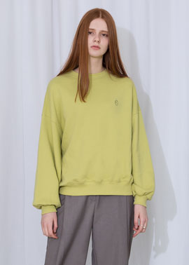 SIGNATURE LOGO SWEATSHIRT_LIME