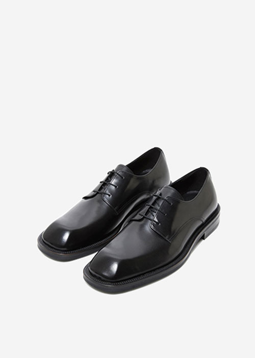 (MEN) ANDERSSON SQUARE TOE DERBY SHOES aaa201m_BLACK