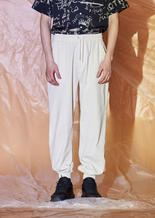 COTTON JOGGER BANDING PANTS (IVORY)