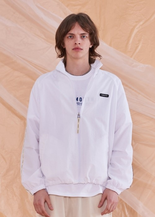 LOGO TAPING TRACK JACKET (WHITE)