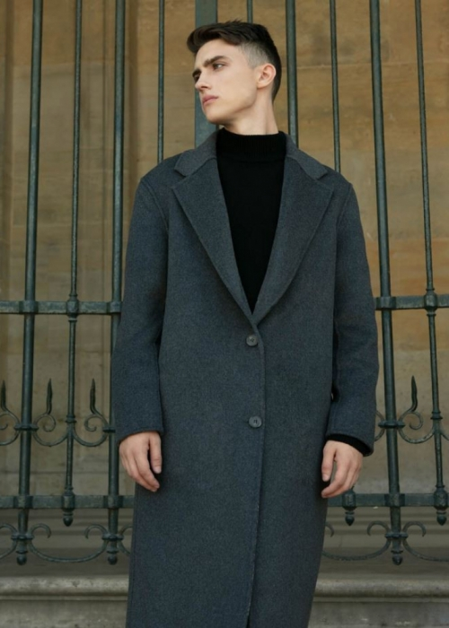 HENLY HANDMADE REVERSIBLE COAT [GREY]