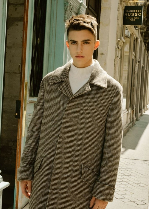 DOMINIC BALMACAAN COAT [CHECK]