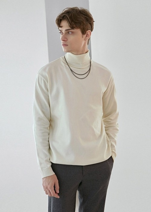 DOUBLE TURTLE LONG KNIT_IVORY