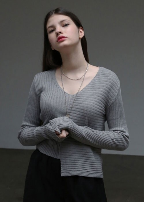 unbalance loose knit_4colors